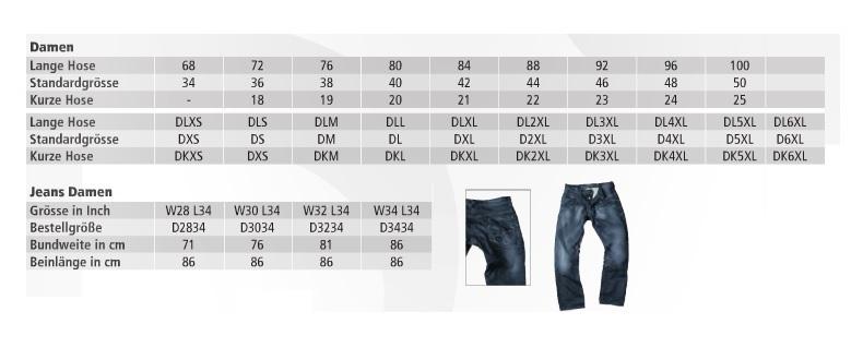 Größentabelle-Damen-Hosen